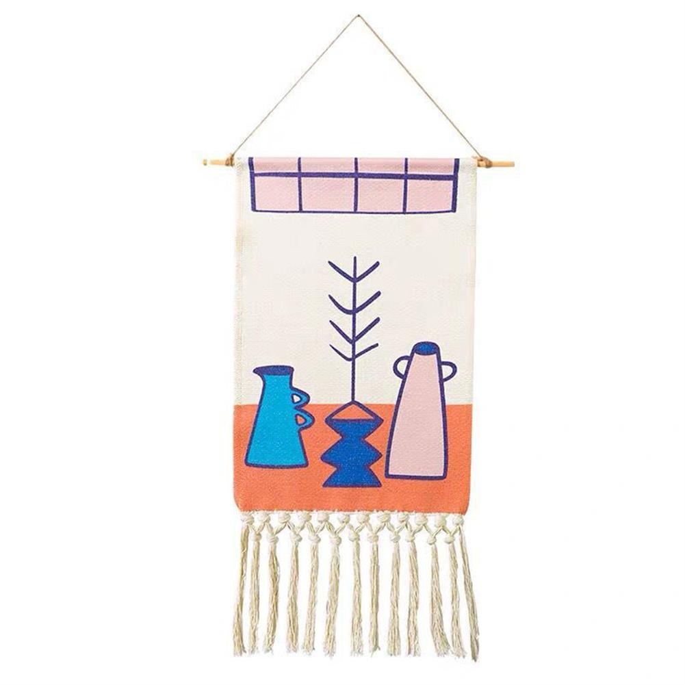 art-kit Woven Wall Hanging Tapestry Wedding Hanging Backdrop Bohemian Wall Mural Yarn Tapestry with Tassel Living Room Home office Decorations HOB1688777 1