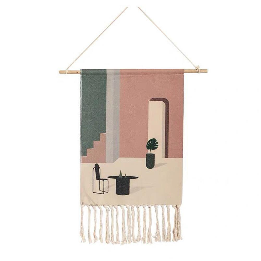art-kit Woven Wall Hanging Tapestry Wedding Hanging Backdrop Bohemian Wall Mural Yarn Tapestry with Tassel Living Room Home office Decorations HOB1688777 3 1