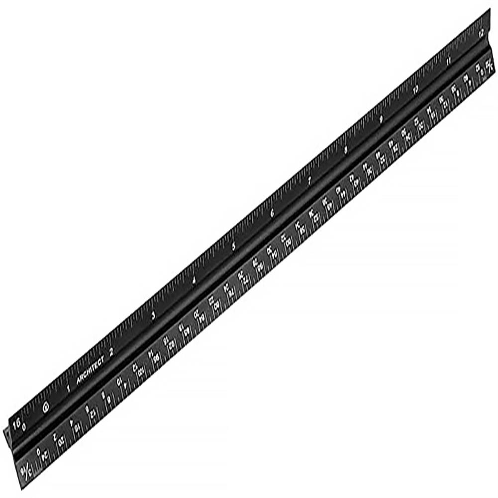 ruler Aluminum Alloy Triangular Ruler Laser Engraving Drawing Ruler Architectural Design And Decoration inch Cm Scale HOB1689336 1