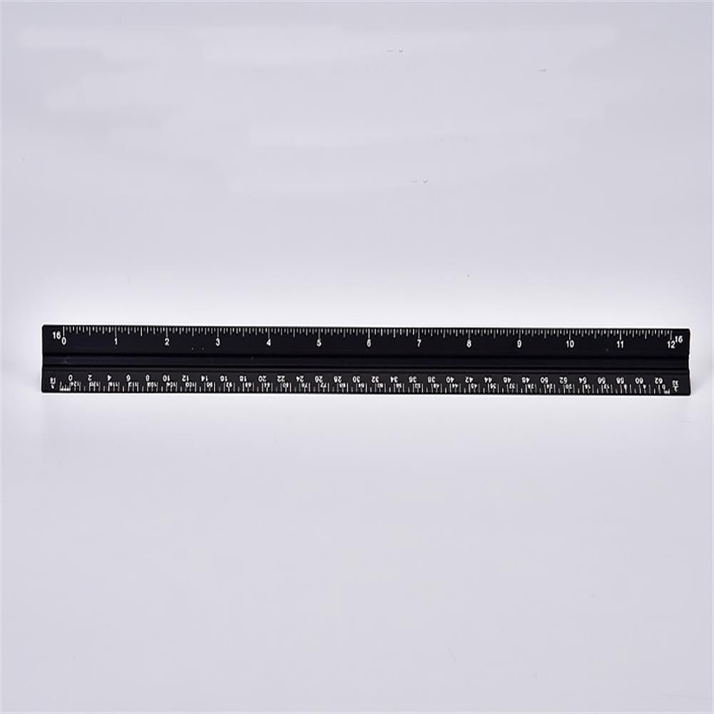 ruler Aluminum Alloy Triangular Ruler Laser Engraving Drawing Ruler Architectural Design And Decoration inch Cm Scale HOB1689336 1 1