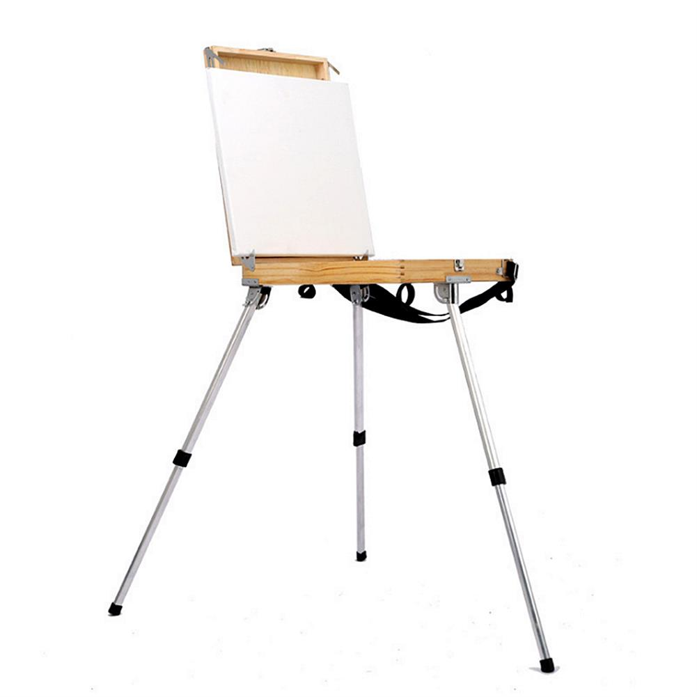 artboard-easel Portable Folding Easel with integrated Wood Box Art Drawing Painters Tripod Painting Table Box Oil Paint Suitcase Art Supplies HOB1689902 1