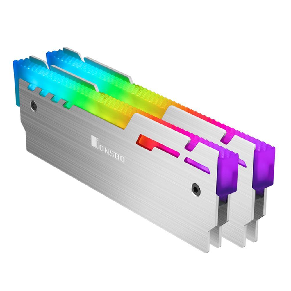 rams JONSBO NC-3 Computer Memory Cooler 5V Glowing RAM Heatsink Cooling Vest Colorful Light Changes Automatically Radiator Desktop HOB1690744 1