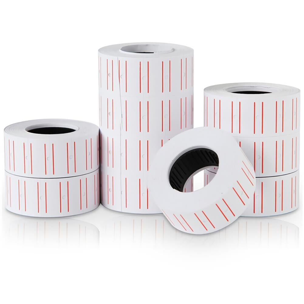 labels Deli 10 Rolls Price Labels Paper Single Row White Tag Paper Supermarket Grocery Shop Paper Stickers for Label Printer 3210 HOB1693261 1