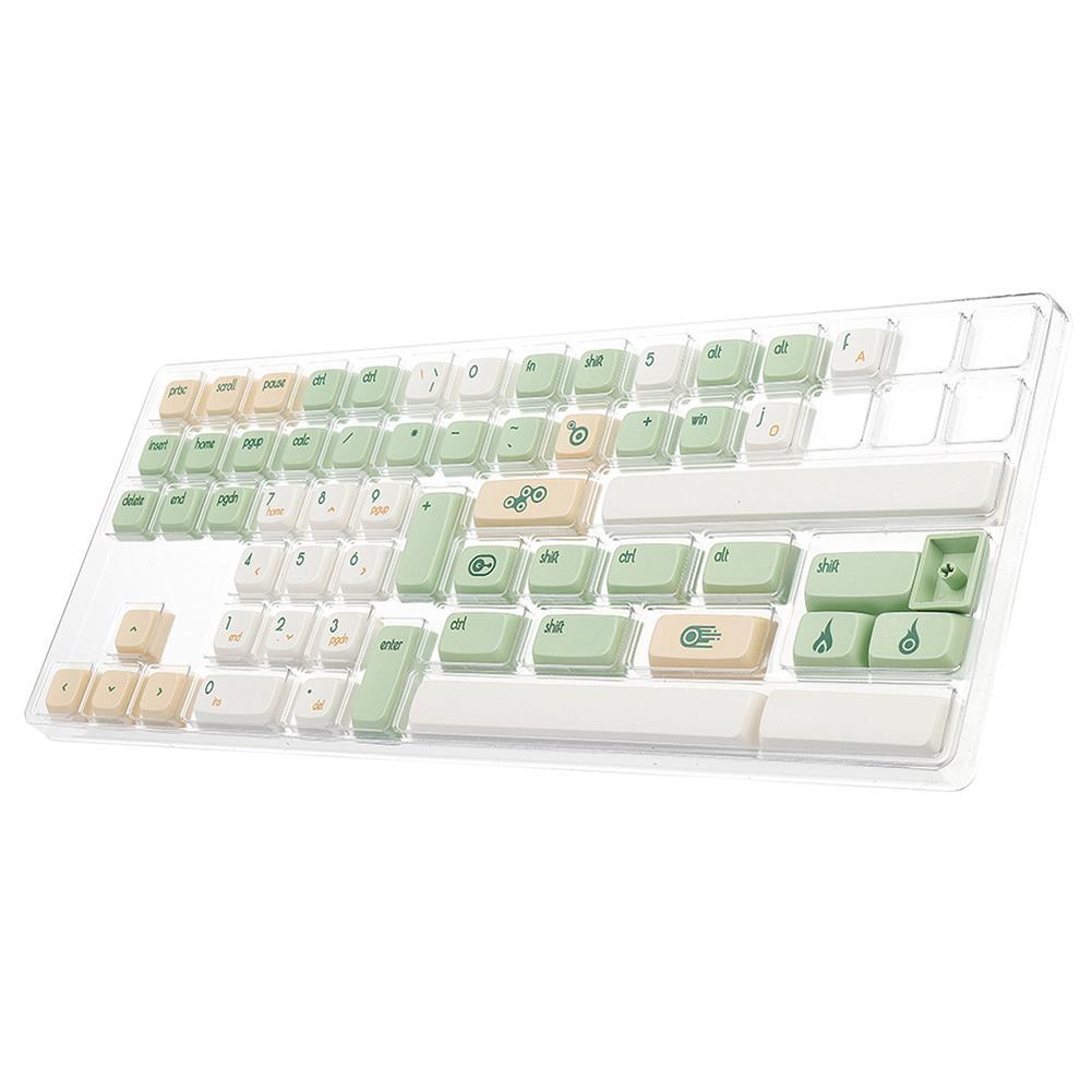 keycaps-switches 134 Keys Retro Milk Green Keycap Set XDA Profile PBT Sublimation Russian Keycaps for Mechanical Keyboards HOB1694027 3 1
