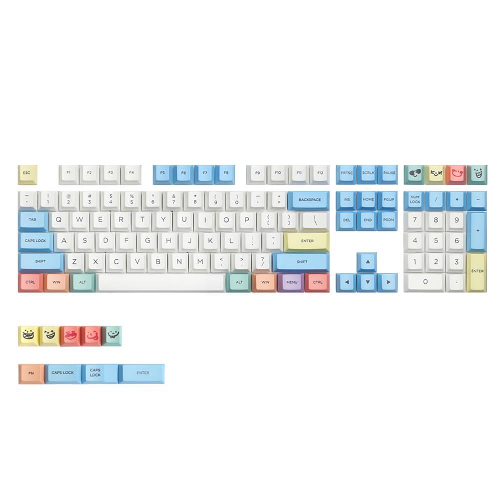 keycaps-switches MechZone 117 Keys Chalk Keycap Set Cherry Profile PBT Sublimation Keycaps for Mechanical Keyboards HOB1694335 1
