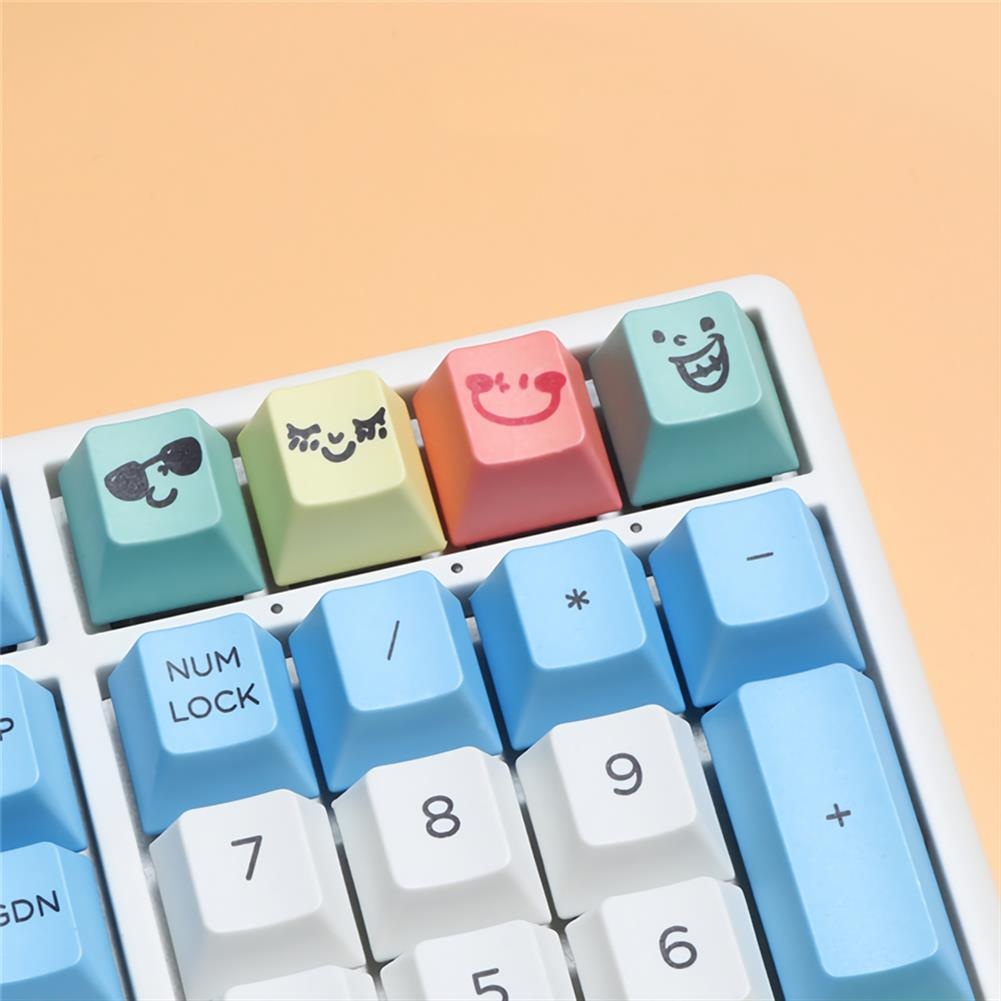 keycaps-switches MechZone 117 Keys Chalk Keycap Set Cherry Profile PBT Sublimation Keycaps for Mechanical Keyboards HOB1694335 3 1