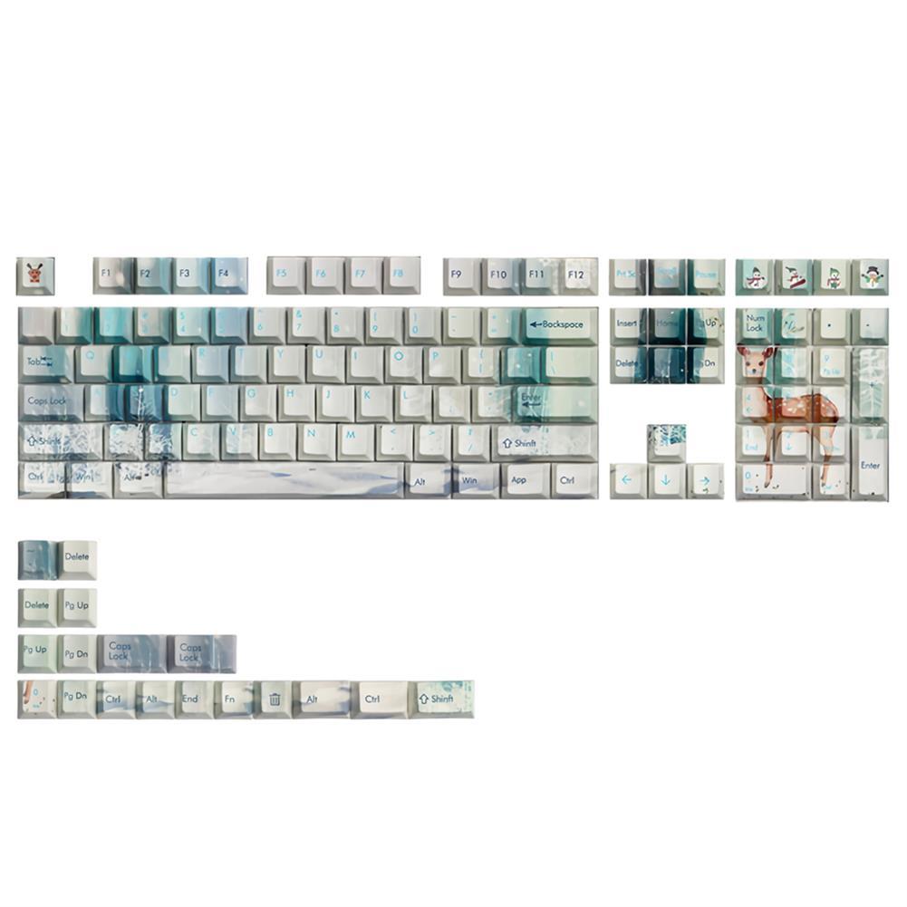 keycaps-switches 126 Keys Winter Time Keycap Set OEM Profile PBT 5-sided Sublimation Keycaps for Mechanical Keyboards HOB1694371 1