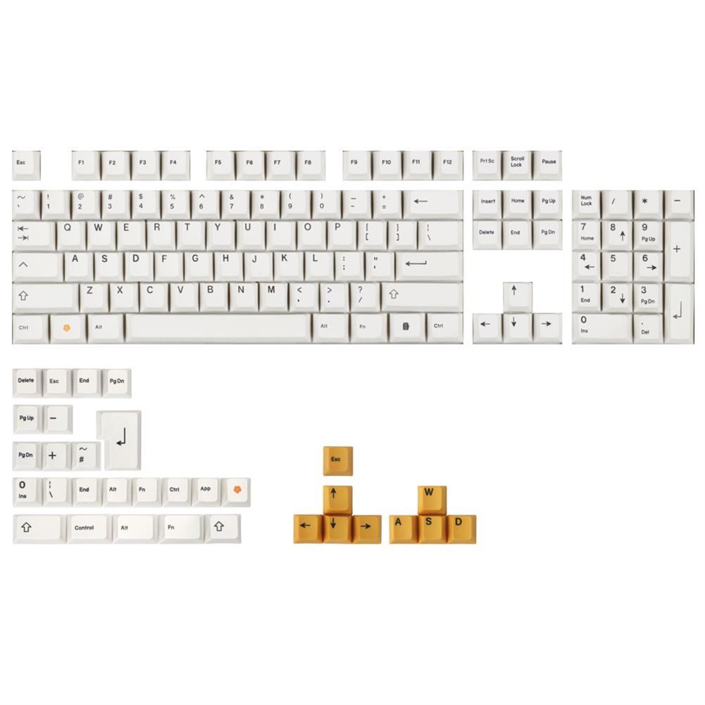 keycaps-switches MechZone 136 Keys White Orange Keycap Set Cherry Profile PBT Sublimation Keycaps for Mechanical Keyboards HOB1694668 1