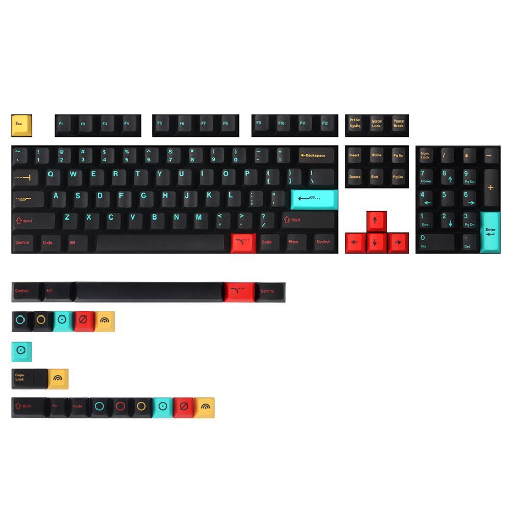 keycaps-switches MechZone 126 Keys Metropolis Keycap Set Cherry Profile PBT Sublimation Keycaps for Mechanical Keyboards HOB1694969 1