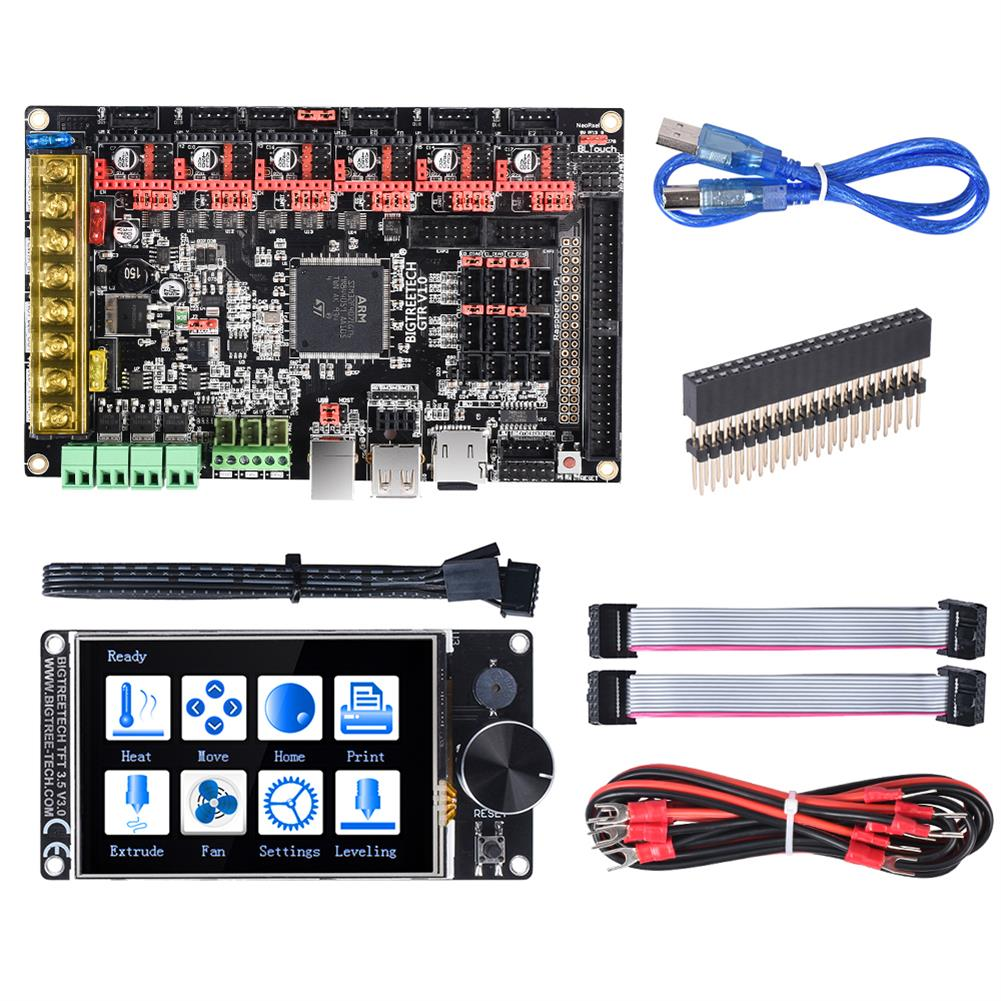 3d-printer-module-board BIGTREETECH GTR V1.0 32Bit Control Board with TFT35 V3.0 Display BTT M5 V1.0 Board Kit for 3D Printer Parts TMC2208 TMC2130 TMC2209 Driver HOB1695158 1 1