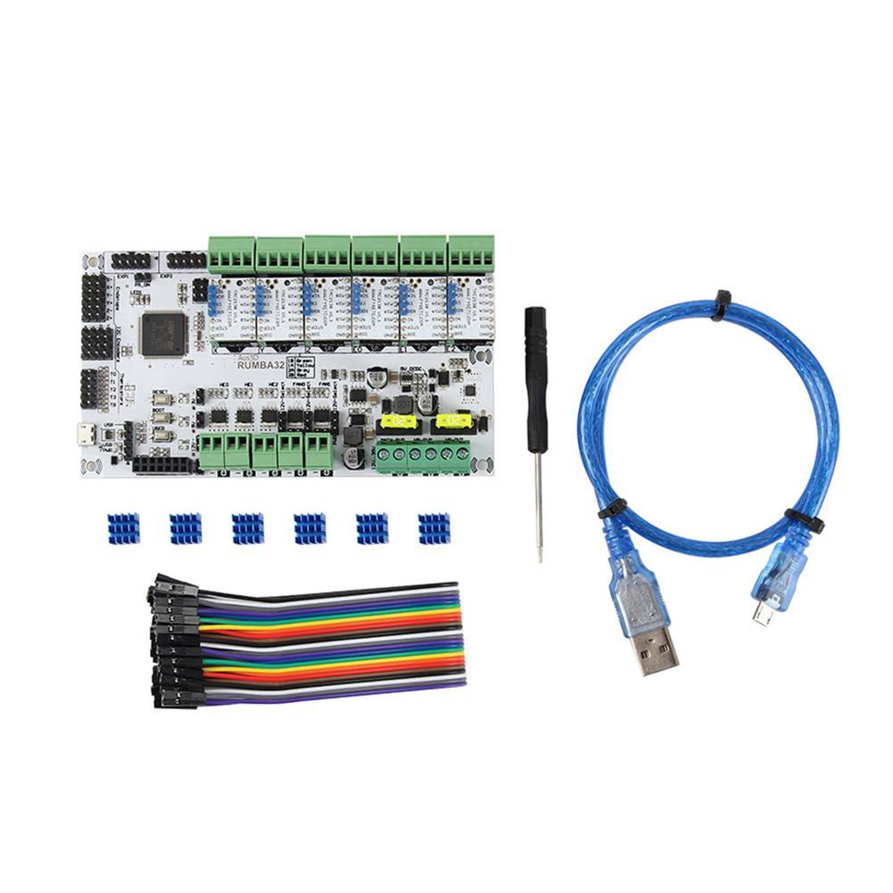 3d-printer-module-board RUMBA Mainboard 32Bit 3D Printer Mainboard Marlin 2.0+ 6Pcs TMC2130 Stepper Motor Driver Kit for 3D Printer HOB1700045 1