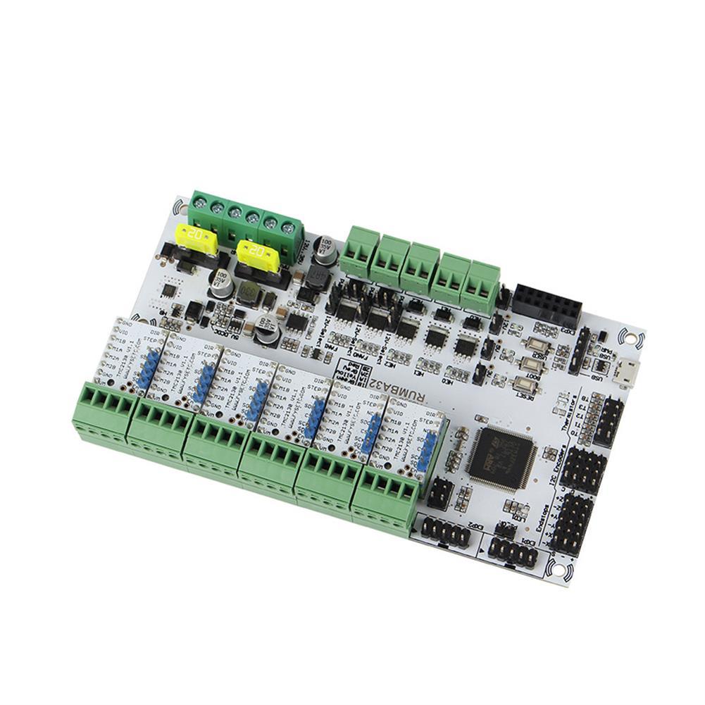 3d-printer-module-board RUMBA Mainboard 32Bit 3D Printer Mainboard Marlin 2.0+ 6Pcs TMC2130 Stepper Motor Driver Kit for 3D Printer HOB1700045 1 1