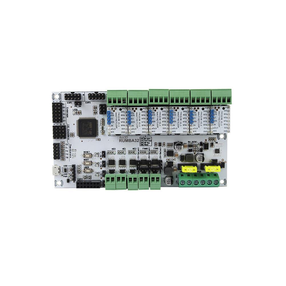 3d-printer-module-board RUMBA Mainboard 32Bit 3D Printer Mainboard Marlin 2.0+ 6Pcs TMC2130 Stepper Motor Driver Kit for 3D Printer HOB1700045 2 1