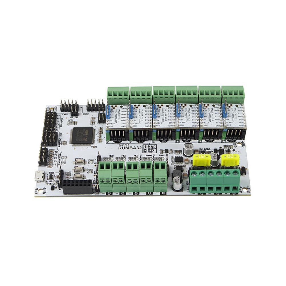 3d-printer-module-board RUMBA Mainboard 32Bit 3D Printer Mainboard Marlin 2.0+ 6Pcs TMC2130 Stepper Motor Driver Kit for 3D Printer HOB1700045 3 1