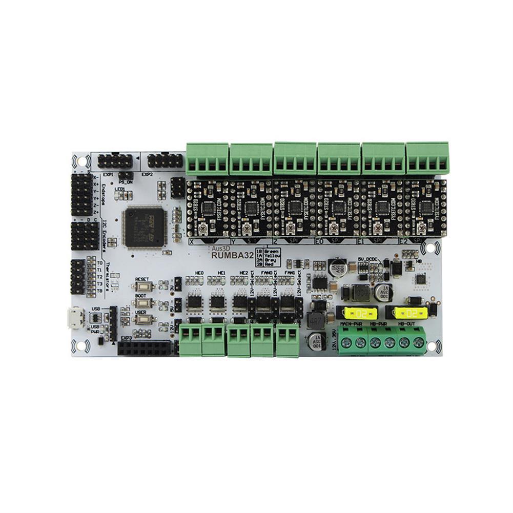 3d-printer-module-board RUMBA Mainboard 32Bit 3D Printer Mainboard + 6*ST820 Stepper Motor Driver Kit for 3D Printer HOB1700078 1