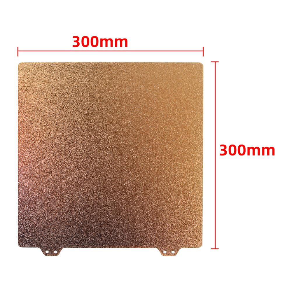 3d-printer-accessories 300mm Double layer Steel Plate with Magnetic B side Sticker + 5Pcs Anti-warpage industrial Adhesive for 3D Printer HOB1700399 1