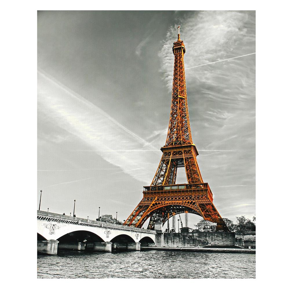 art-kit 1 Piece Eiffel Tower Wall Decorative Painting Canvas Print Art Pictures Frameless Wall Hanging Decorations for Home office HOB1702542 1