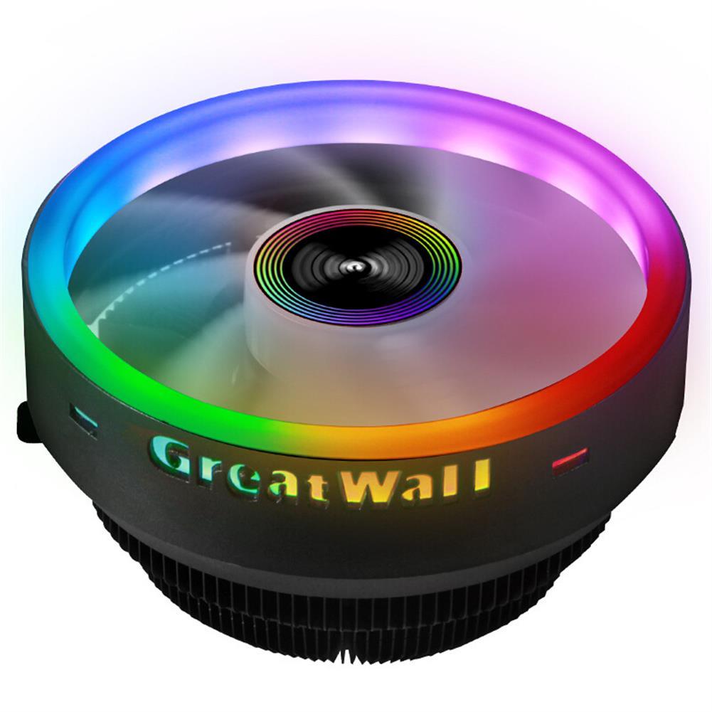 fans-cooling Great Wall X120 RGB CPU Cooler 3Pin 12V 120MM Radiator Fan Support intel&AMD CPU Cooling Heatdiss Fan HOB1702560 1