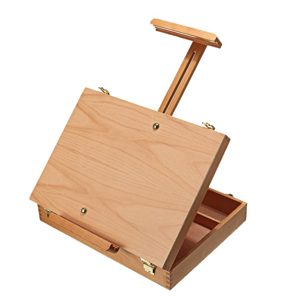 artboard-easel Wooden Easel Box Sketchbox Painting Storage Box Tabletop Easel for Drawing Sketching Student Art Supplies HOB1702566 1