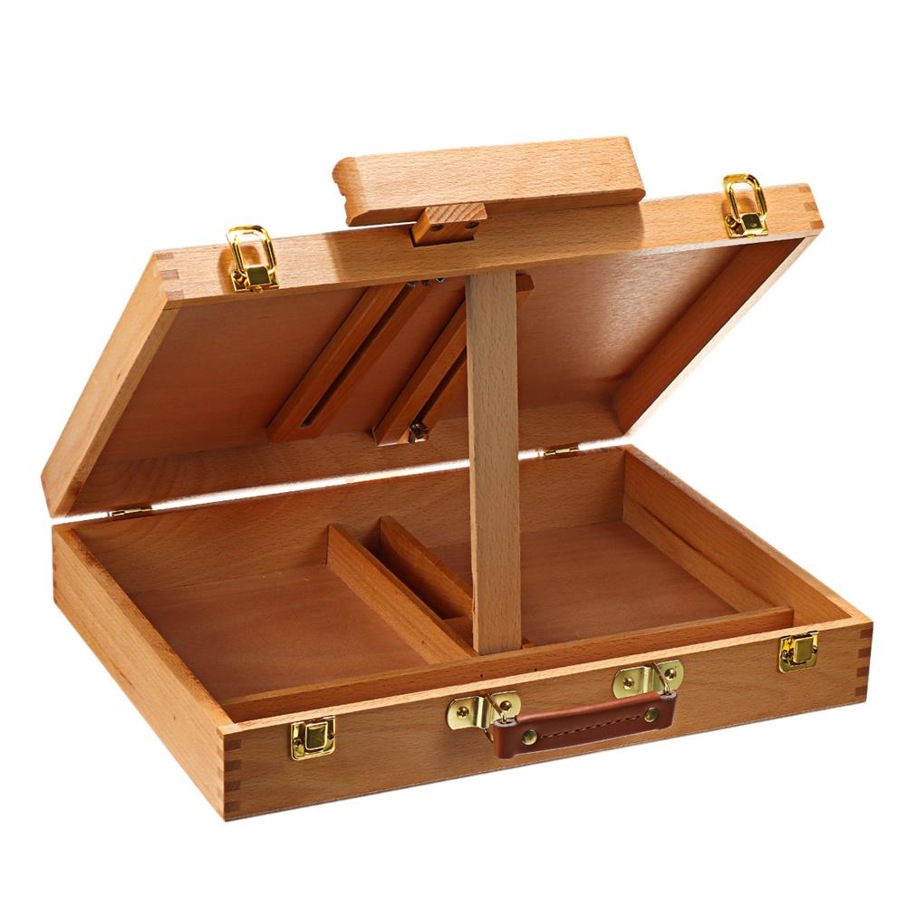 artboard-easel Wooden Easel Box Sketchbox Painting Storage Box Tabletop Easel for Drawing Sketching Student Art Supplies HOB1702566 1 1