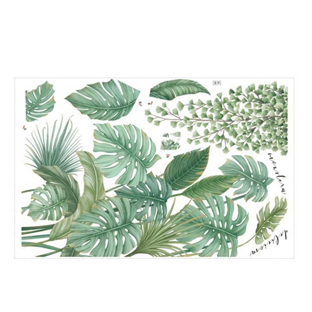 art-kit Tropical Leaves Green Plant Wall Stickers Vinyl Decal Living Room Art Mural HOB1702823 1