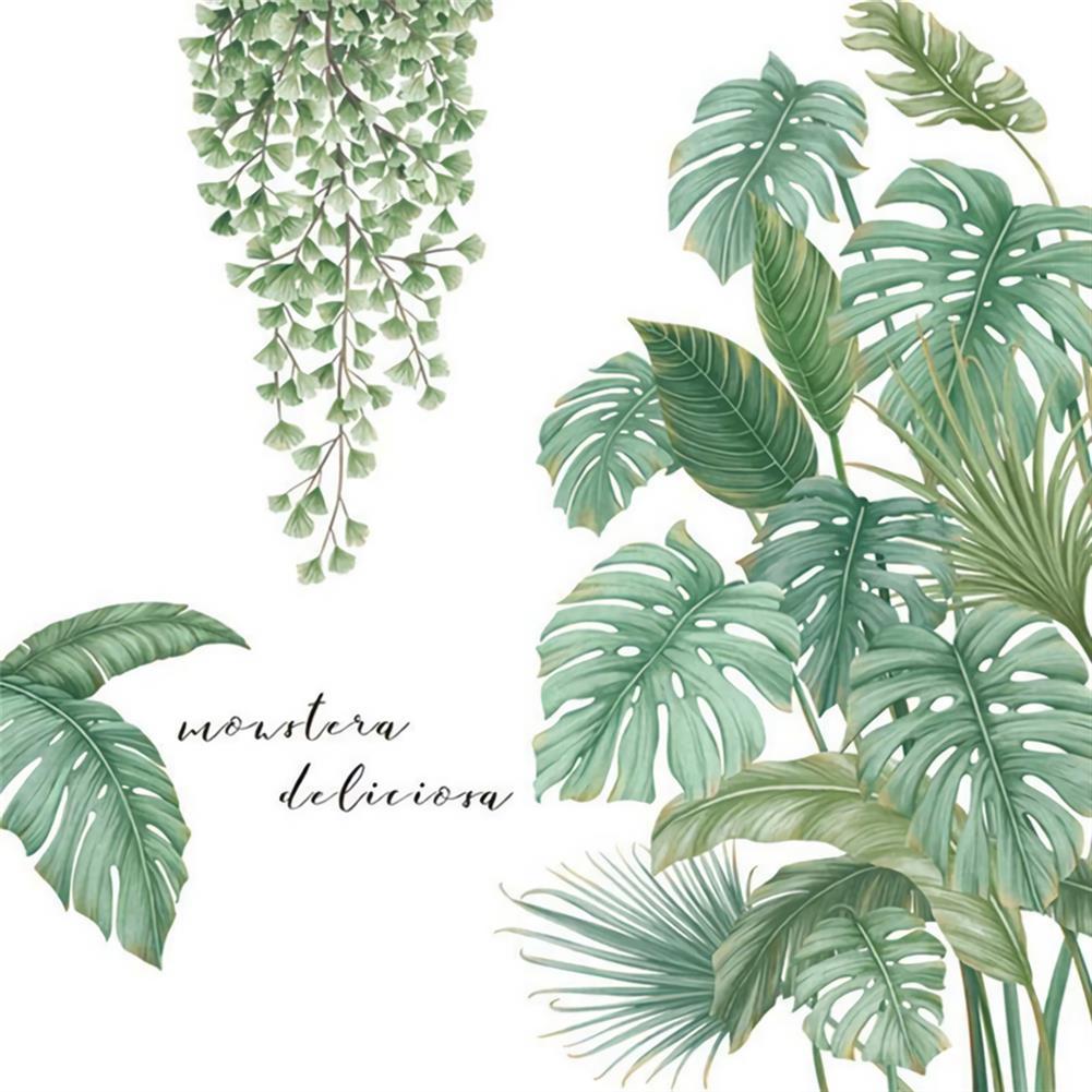 art-kit Tropical Leaves Green Plant Wall Stickers Vinyl Decal Living Room Art Mural HOB1702823 1 1