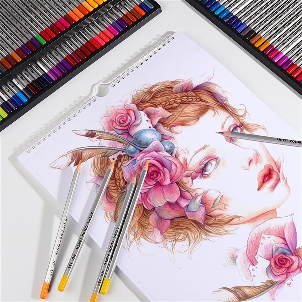 watercolor-paints 150 Colors Pencils Professional Oil Colored Pencils Set Artist Painting Sketching Wood Color Pencil School Art Supplies HOB1702852 3 1