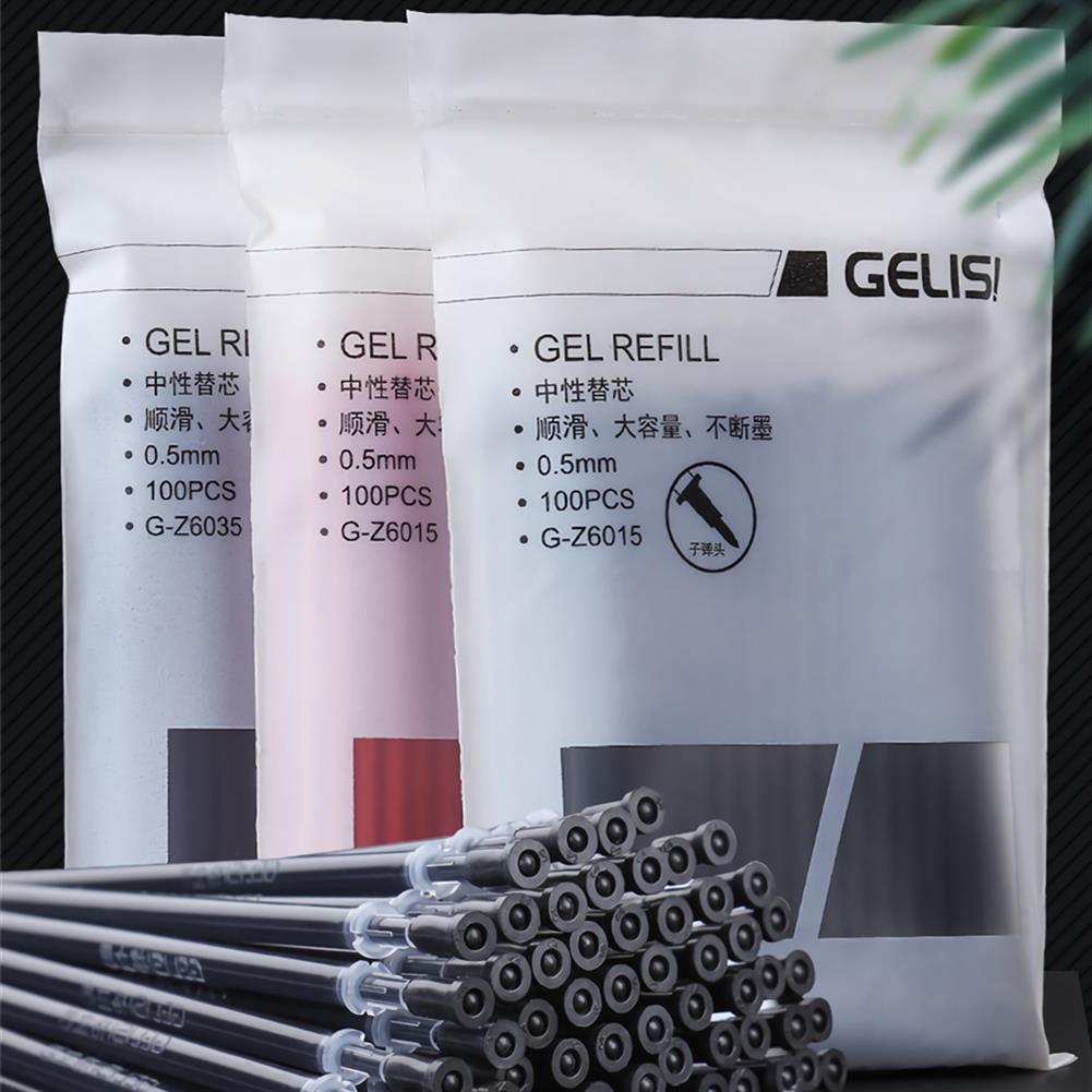 pen 100pcs Gel ink Refill Replacement 0.5mm Ballpoint Pens for Writing office School Supplies HOB1704581 1 1