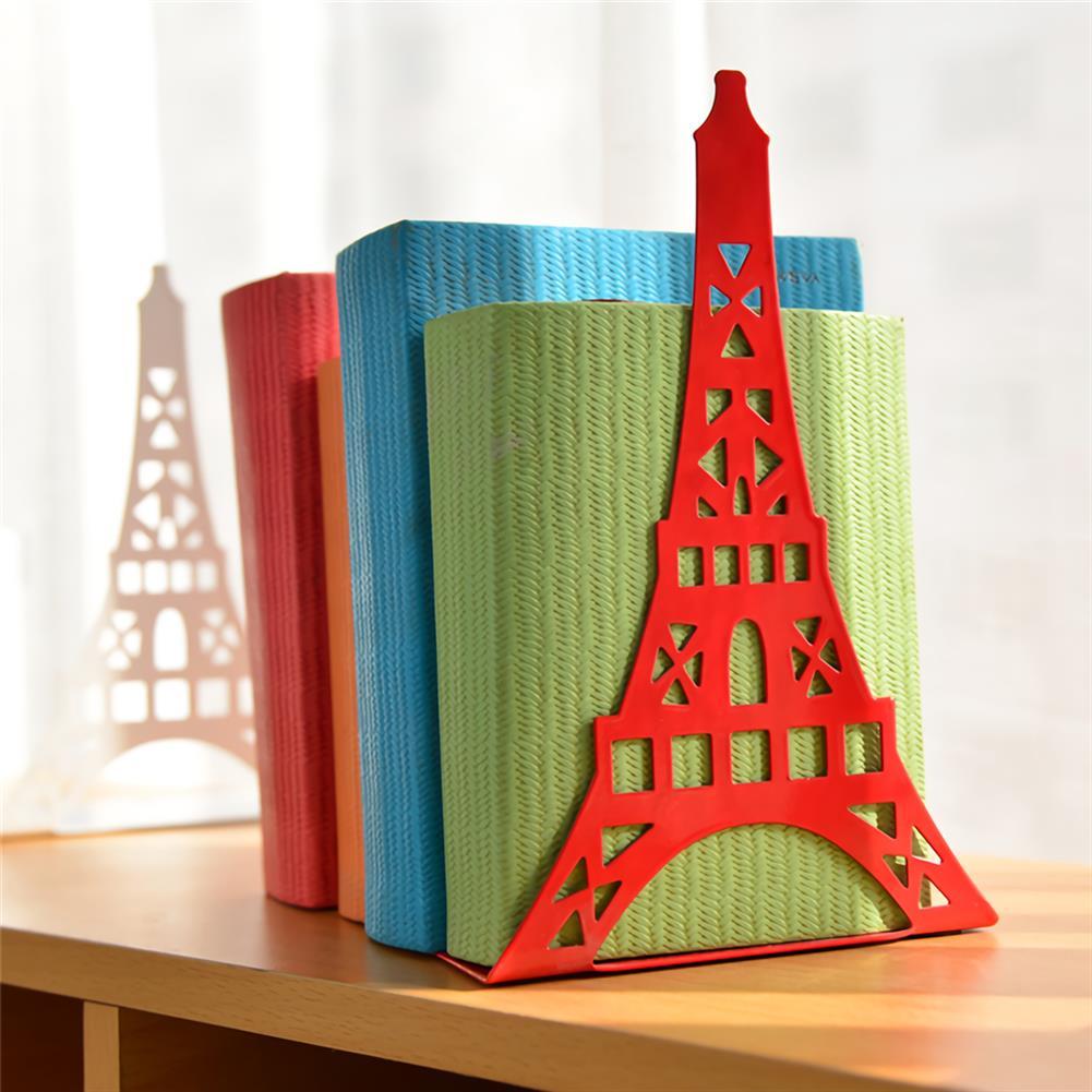 folder-file-pocket, filing Bookend Fashion Eiffel Tower Design Bookshelf Large Metal Bookend Desk Holder Stand for Books Organizer Gift Stationery HOB1705090 1