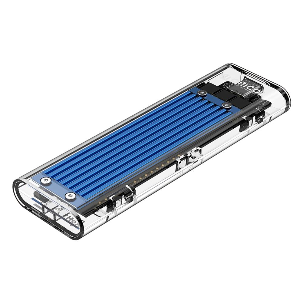 hdd-ssd-enclosures ORICO TCM2M-C3 NVMe M.2 SSD HDD Enclosure 10Gbps USB3.1 Solid State Drive Enclosure Transparent Case Hard Drive Disk Base HOB1705146 1