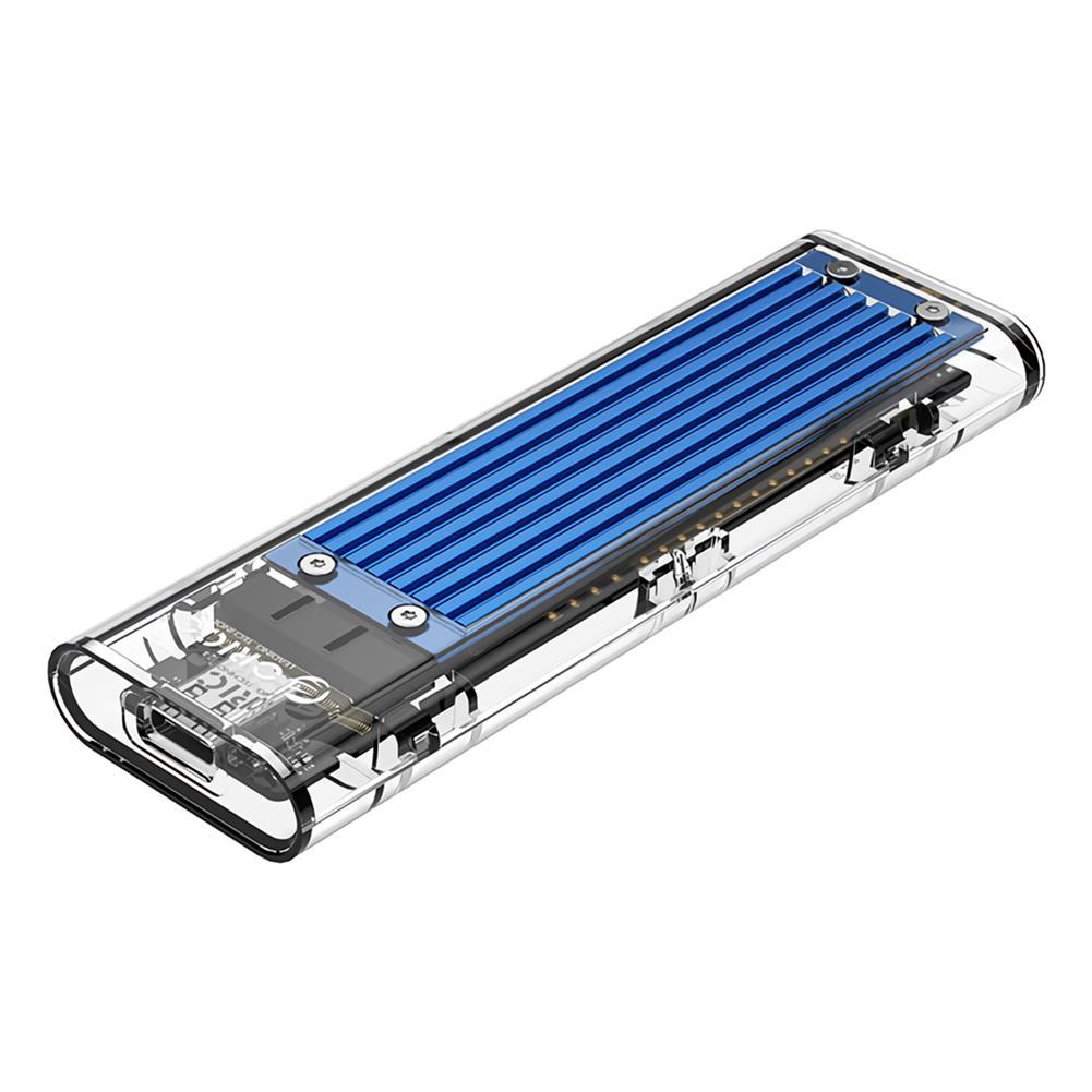 hdd-ssd-enclosures ORICO TCM2M-C3 NVMe M.2 SSD HDD Enclosure 10Gbps USB3.1 Solid State Drive Enclosure Transparent Case Hard Drive Disk Base HOB1705146 1 1