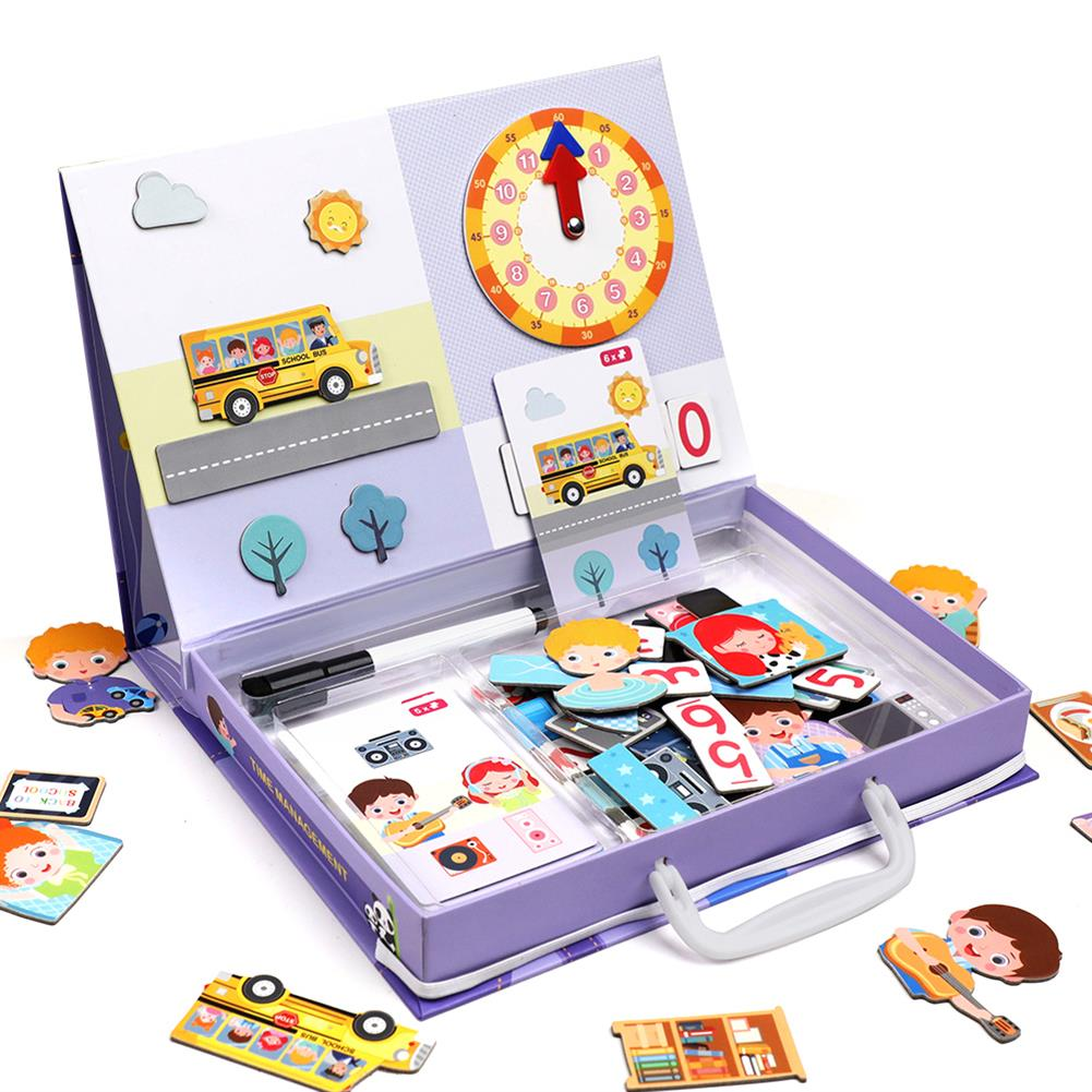 stationery-sticker Letter Puzzles Educational Time Management Games Educational Toys Puzzles Teaching Aids Puzzle Toy for Kids HOB1705481 1