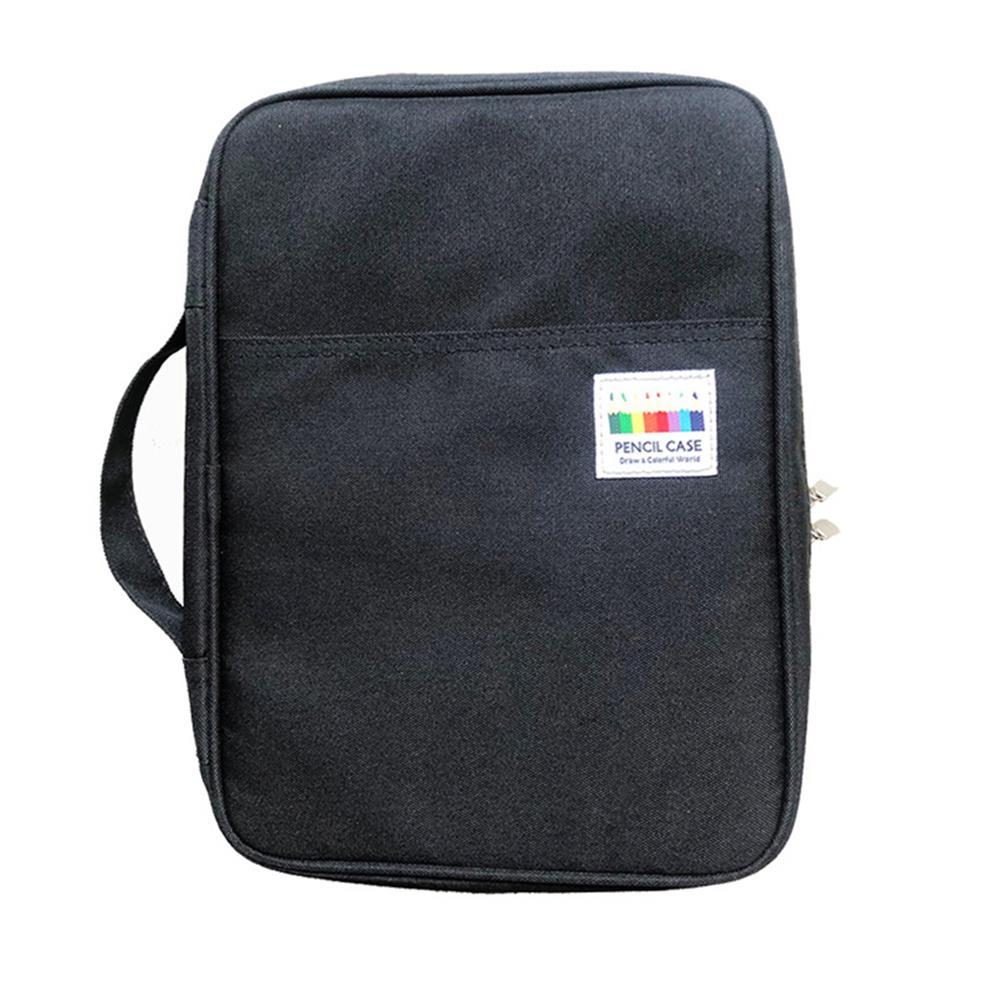 pencil-case Pencil Bag Solid Color Oxford Cloth Large Capacity Pencil Case Sketch Pencil Color Storage Bag Stationery Bag School office Supplies HOB1706124 1
