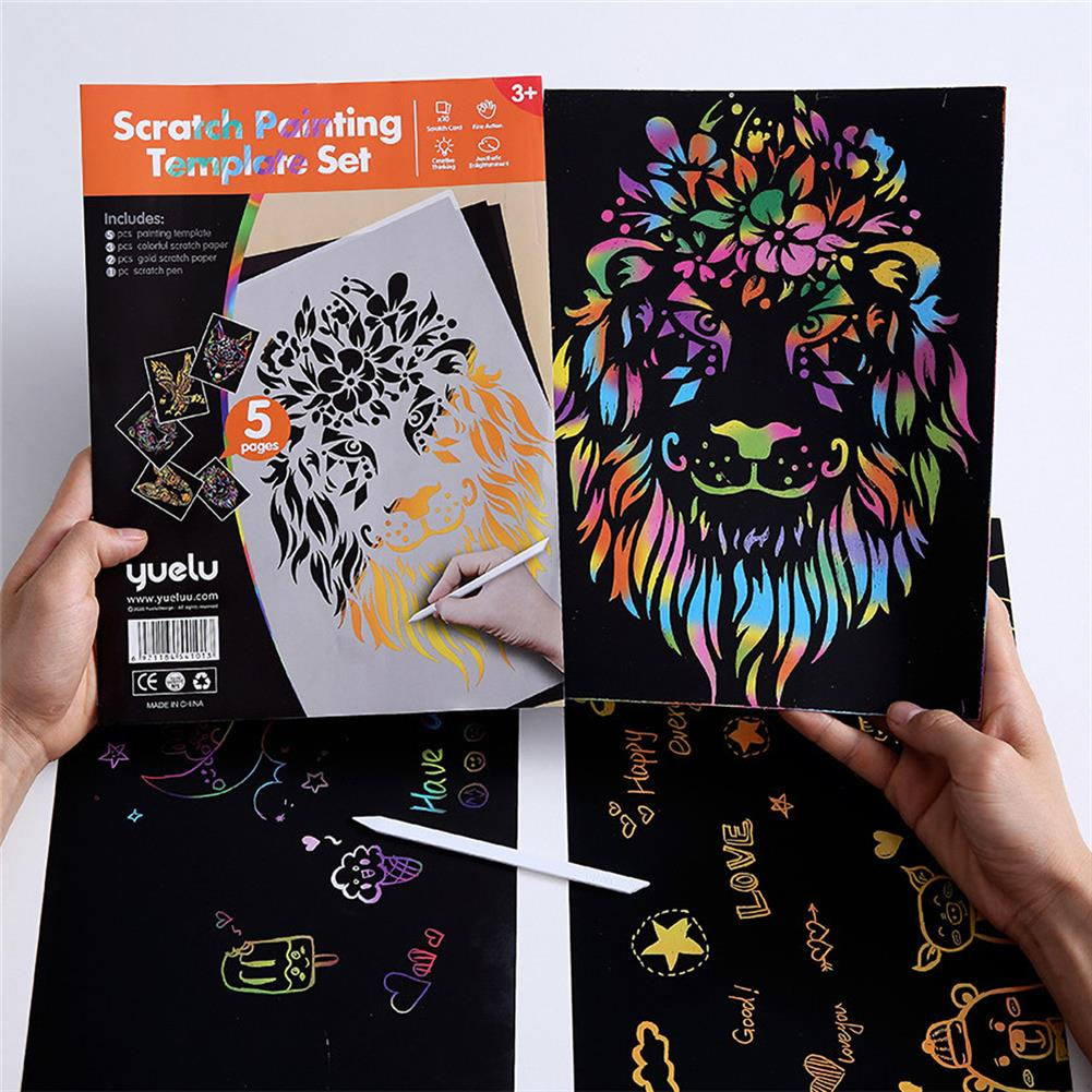 watercolor-paints Painting Kids Toys Stenciled Template DIY Scrapbooking Coloring Animal Child Educational Toys HOB1706872 1