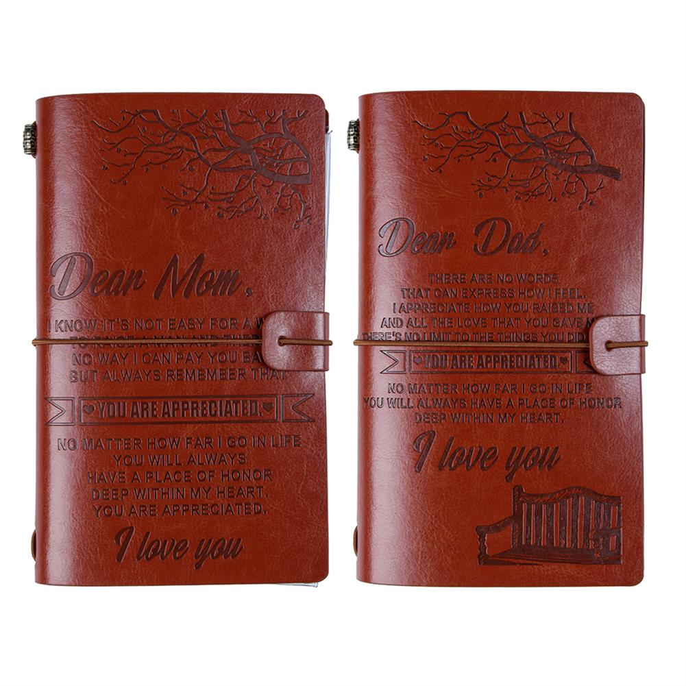 paper-notebooks Diary Notebook A6 Leather Cover Journal Notebook Diary Daily Notepad Birthday Gift School office Supplies HOB1707105 1 1