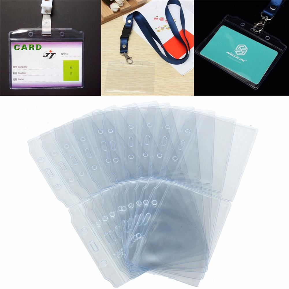 folder-file-pocket, filing 20pcs/set Pouch Holders PVC Plastic Clear Bags Pockets Wallet ID Card Pass Badge Holder Bag invitations Packaging Pouch HOB1707574 2 1