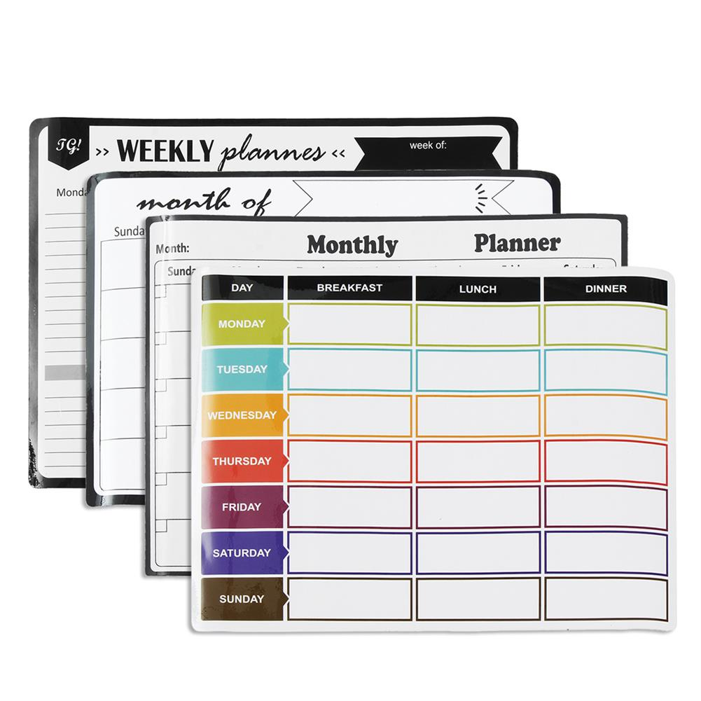 stationery-sticker A3 Whiteboard Monthly Planner Board Kitchen Daily Flexible Bulletin Memo Boards Fridge Magnet Drawing Calendar HOB1707681 1