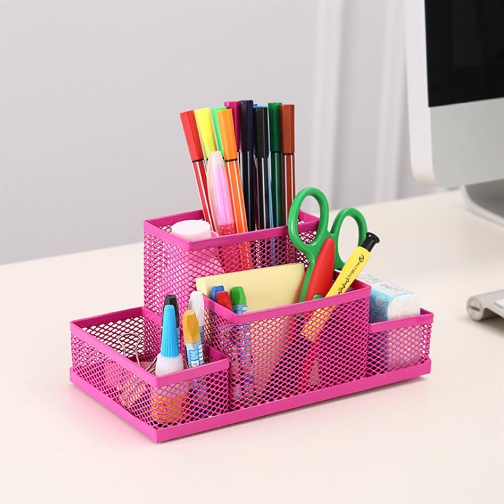 pen-holders, filing 4 Holes Desktop office Supplies Multi-function Pen Holder Combination Stationery Pen Holder for School office HOB1709609 3 1