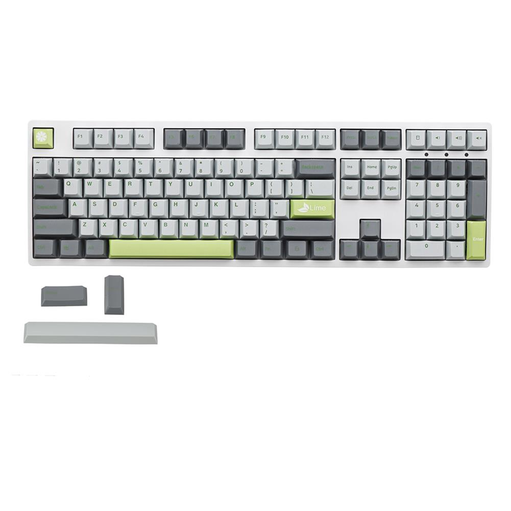 keycaps-switches MechZone 108 Keys Lime Keycap Set OEM Profile PBT Keycaps for 61/68/87/104/108 Keys Mechanical Keyboards Comes with 4 Replacement Keycaps HOB1710834 1 1