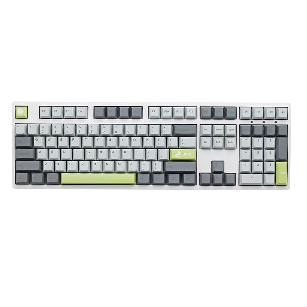 keycaps-switches MechZone 108 Keys Lime Keycap Set OEM Profile PBT Keycaps for 61/68/87/104/108 Keys Mechanical Keyboards Comes with 4 Replacement Keycaps HOB1710834 2 1
