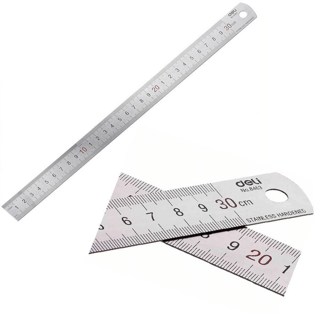 ruler Deli 8463 Metal Ruler 30cm Metal Measuring Scale Ruler Art Accessories Stationery office School Supplies HOB1711324 1