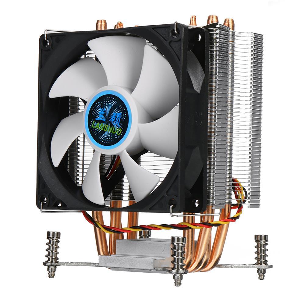 fans-cooling CPU Cooler 4 Copper Heatpipe Cooler Cooling Fan 90mm 3Pin CPU Cooler Fan Cooling Heatsink Radiator for intel LGA 2011 X79 X99 299 HOB1711914 1 1