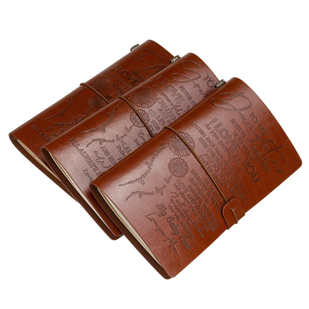 paper-notebooks Diary Notebook A6 Leather Cover Journal Notebook Diary To My Son/Grandson/Daughter Traveler Notepad Birthday Gift School office Supplies HOB1711958 1 1