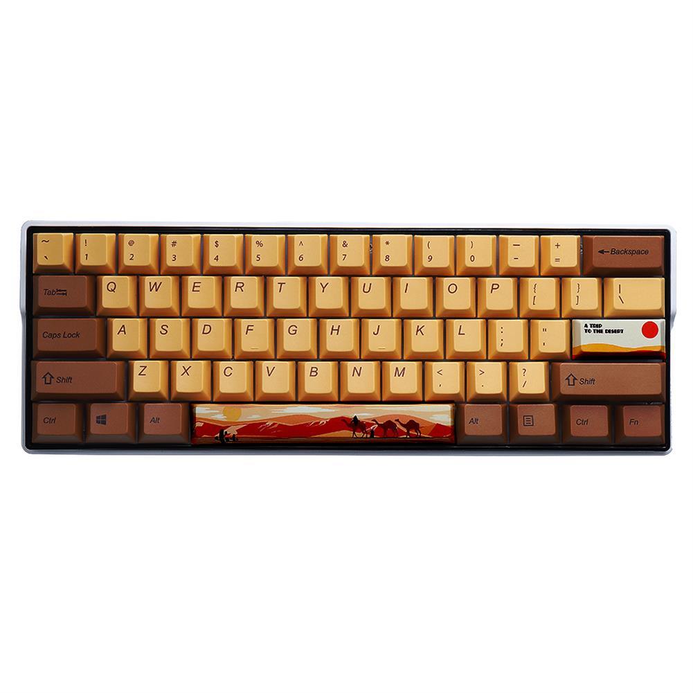 keycaps-switches MechZone 108/130 Keys Desert Journey Keycap Set OEM Profile PBT 5-sided Subliamtion Keycaps for Mechanical Keyboards HOB1712864 1
