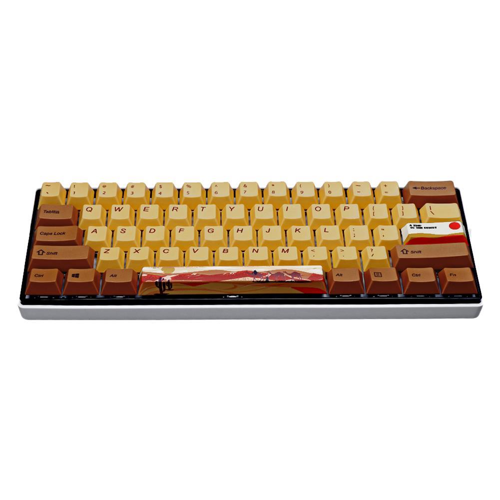 keycaps-switches MechZone 108/130 Keys Desert Journey Keycap Set OEM Profile PBT 5-sided Subliamtion Keycaps for Mechanical Keyboards HOB1712864 2 1