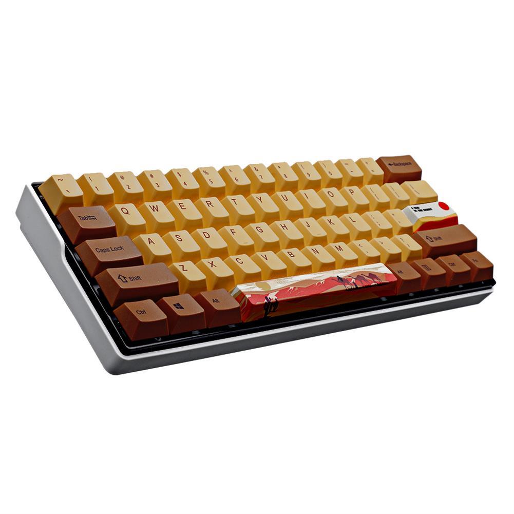 keycaps-switches MechZone 108/130 Keys Desert Journey Keycap Set OEM Profile PBT 5-sided Subliamtion Keycaps for Mechanical Keyboards HOB1712864 3 1