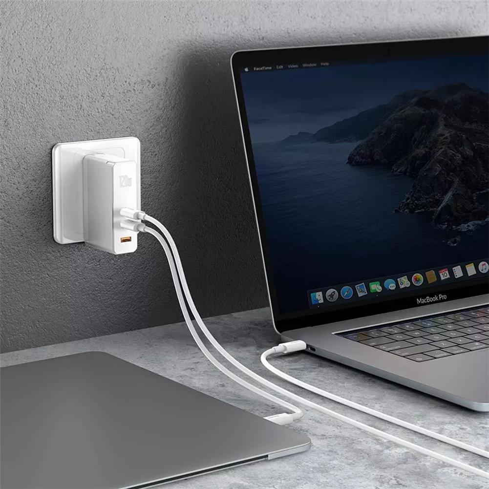 laptop-chargers-adapters BASEUS GaN2 Pro Mini Dual Type-C + USB-A 120W Quick Charger Power Adapter Power Socket HOB1713078 1