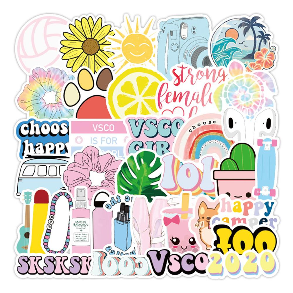 paper-notebooks 50 Pcs Various Beauty Graffiti Stickers Waterproof Decorative Stickers for Suitcase Laptop Guitar Refrigerator HOB1714097 1