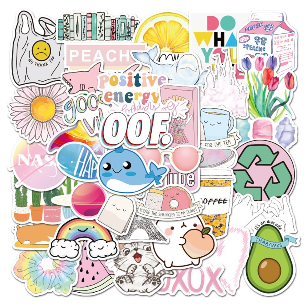 paper-notebooks 50 Pcs Various Beauty Graffiti Stickers Waterproof Decorative Stickers for Suitcase Laptop Guitar Refrigerator HOB1714097 1 1