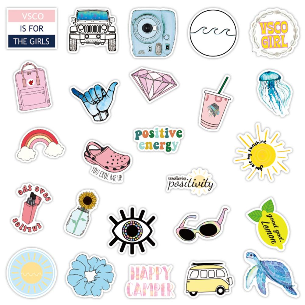 paper-notebooks 50 Pcs Various Beauty Graffiti Stickers Waterproof Decorative Stickers for Suitcase Laptop Guitar Refrigerator HOB1714097 2 1